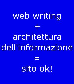 web writing architettura informazione
