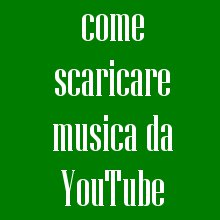 scaricare da youtube mp3 online