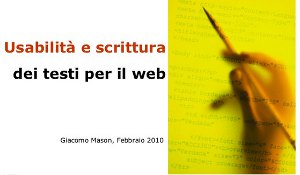 web usability e scrittura