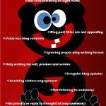 10 errori gravi che un blogger deve evitare!