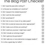 Checklist per blogger: le verifiche prima di pubblicare un post