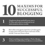 Il blogging di successo distillato in 10 massime!